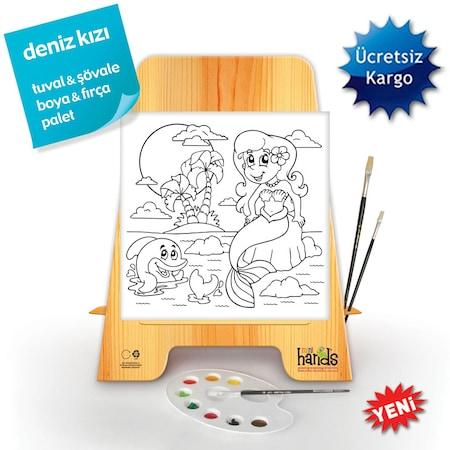 Mini Hands Boyama Tuval Set 8 Deniz Kizi N11 Com