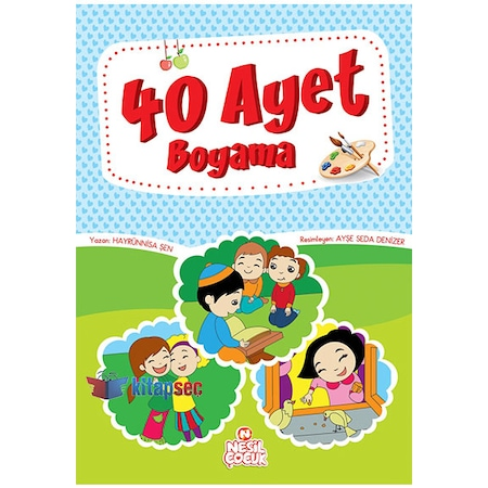 Nesil Cocuk 40 Ayet Boyama Renkli Resimli 96 Sayfa N11 Com