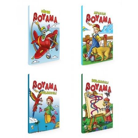 Okul öncesi Ve 1 Sınıf Boyama Seti 4 Kitap N11com