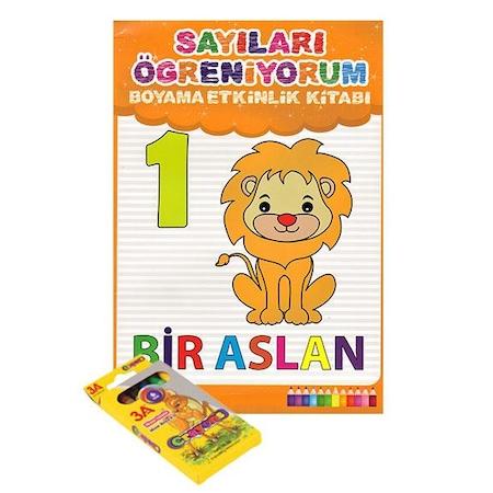 Sayıları öğreniyorum Boyama Etkinlik Kitabı Diytoy N11com