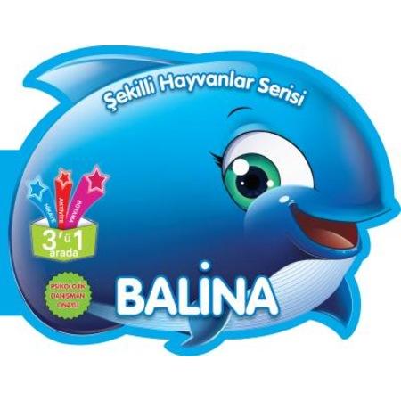 şekilli Hayvanlar Serisi Balina Hikaye Boyama Aktivite N11com