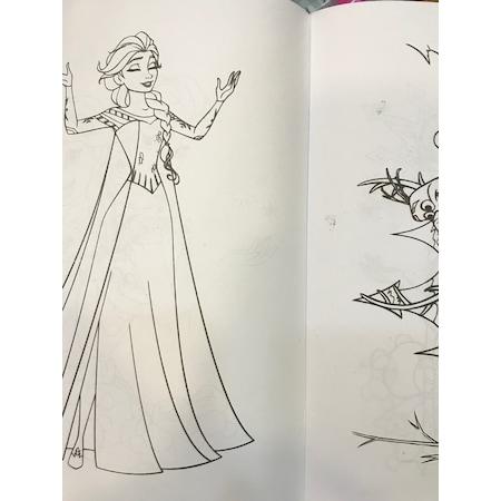 Boyama Kitabı Elsa Frozen Sticker Ve Maske Hediyeli N11com