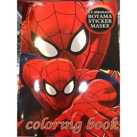 Spiderman Boyama Sticker Ve Maske Hediyeli N11 Com