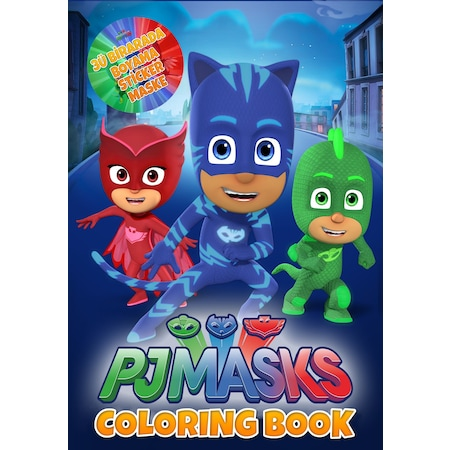 Pj Masks Spiderman Arabalar Boyama Kitabı Stickermaskeli N11com