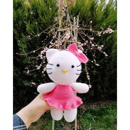 Amigurumi Organik El Örmesi Beyaz Hello Kitty   450x450