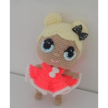 Minnie Mouse Kostümlü Kız Bebek Anahtarlık Yapımı - Örgü Modelleri | 450x450