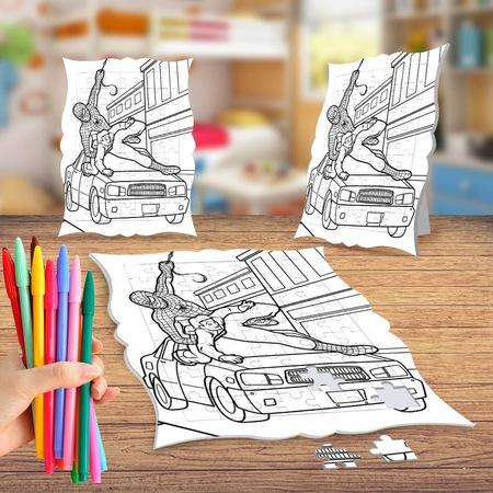 Kahraman örümcek Adam Boyama Puzzle Tablo çocuk Eğitici Yapboz N11com