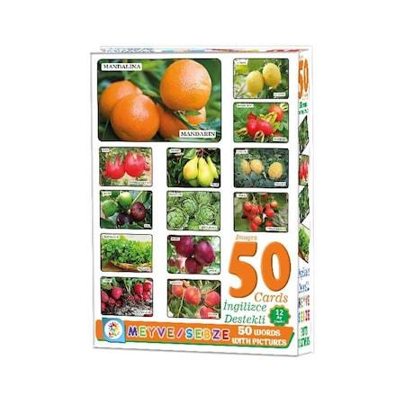 Laco Egitici Oyun Kartlari Meyve Sebze Resimleri Ingilizce Turkce