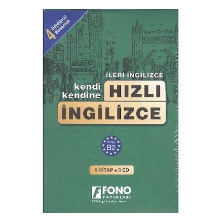 Fono Kendi Kendine Hızlı İngilizce 4. Basamak 3 Kitap + 3 CD Fiyatları ve  Özellikleri