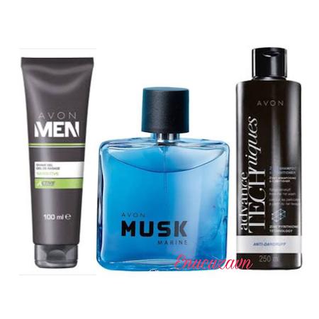 Avon Musk Marine Edt 75 Ml Erkek Parfüm şampuantraş Jeli 3lü