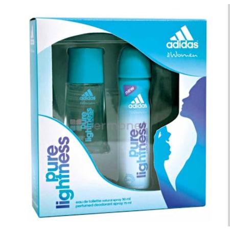 Adidas Pure Lightness 50ml Edt Deodorant Set Bayan Parfüm Deo