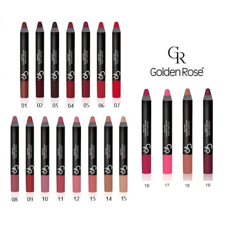 Golden Rose Matte Crayon Mat Kalem Ruj Tüm Renkler N11com