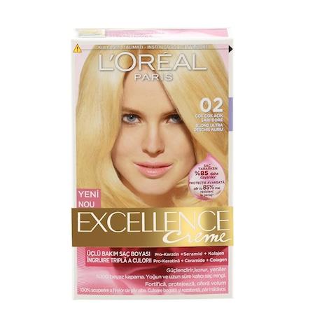 Loreal Excellence Saç Boyası 02 çok çok Açık Dore Sarı N11com