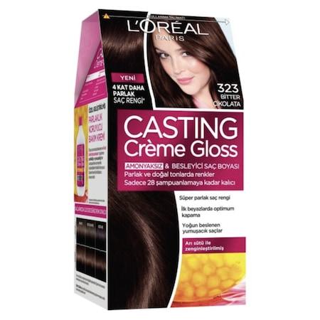 L Oreal Paris Casting Creme Gloss Sac Boyasi 323 Bitter Cikolata