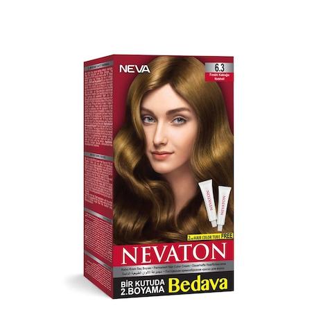 Nevaton Set Saç Boyası Bir Kutuda 2 Boyama 63 Fındık Kabuğu N11com
