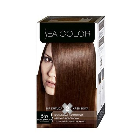 Sea Color 2li Krem Saç Boyası 577 Sıcak çikolata N11com