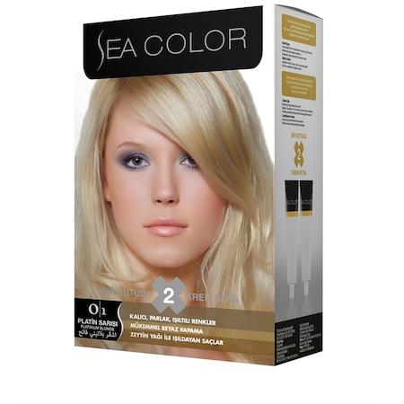 Sea Color Krem Saç Boyası 01 Platin Sarı N11com