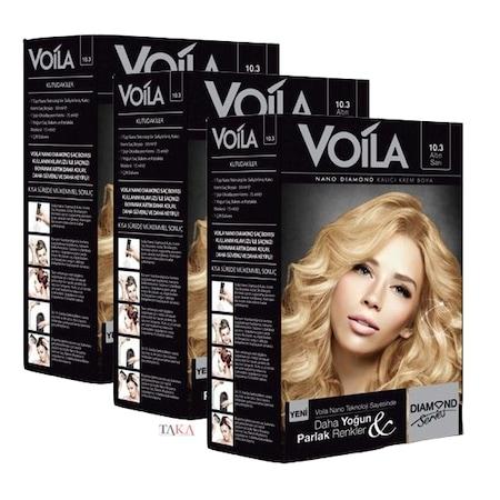 Voila Nano Diamond Kit Saç Boyası 103 Altın Sarısı 3 Paket N11com