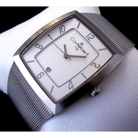 Cortebert Swiss 5336 Çelik Hasır Kordonlu Erkek Kol Saati