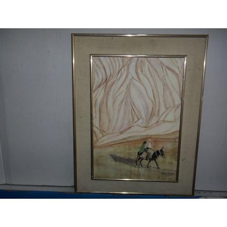 ünlü Ressam Güler Aras 1990 Yağlı Boya Tablo Müzayedelik Resim N11com