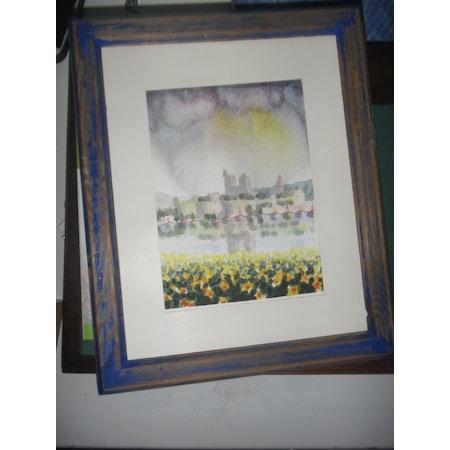 ünlü Ressam Yusuf Tarım Imzalı Orjınal Sulu Boya Tablo Resim N11com