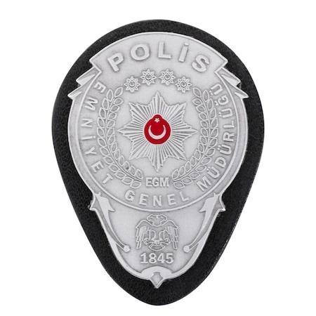 Gümüş Renk Polis Kemer Rozeti N11com
