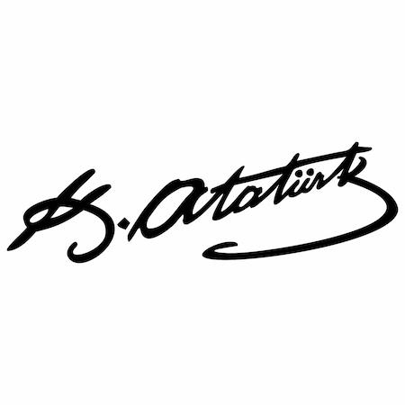 Mustafa Kemal Ataturk Un Imzasi Tattoo Dovme Sablonu Model 11