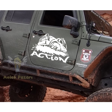 Off Road Jeep >> Action Off Road Jeep Araba Sticker