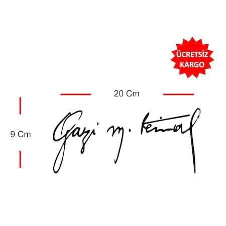 Gazi Mustafa Kemal Imza Sticker N11com