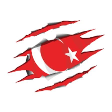 Mr Sticker Rfhlm66 Reflektif Yirtik Metal Desenli Ay Yildiz Etike