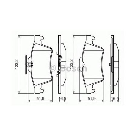 Arka Fren Disk Balata Ford Focus Cmax
