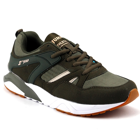 Jump 17660-D Haki Günlük Yürüyüş Koşu Erkek Spor Ayakkabı