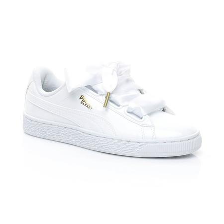 Puma 363073.02 Basket Heart Patent Kadın Beyaz Sneaker