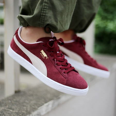 huge selection of 90c52 82385 PUMA Suede Classic cabernet white 352634-75
