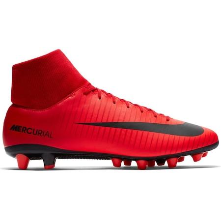 Nike Hypervenom Phelon 3 Dynamic Fit AG-PRO Artificial-Grass Kadın Futbol Ayakkabısı Kırmızı/Siyah N