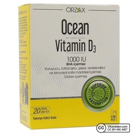 Orzax Ocean Vitamin D3 1000 Iu Fiyatlari Ve Ozellikleri