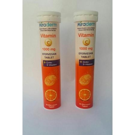 Vitamin C 20 Efervesan Tablet 1000mg Cinko D Vitamini 2 Li Pa Fiyatlari Ve Ozellikleri