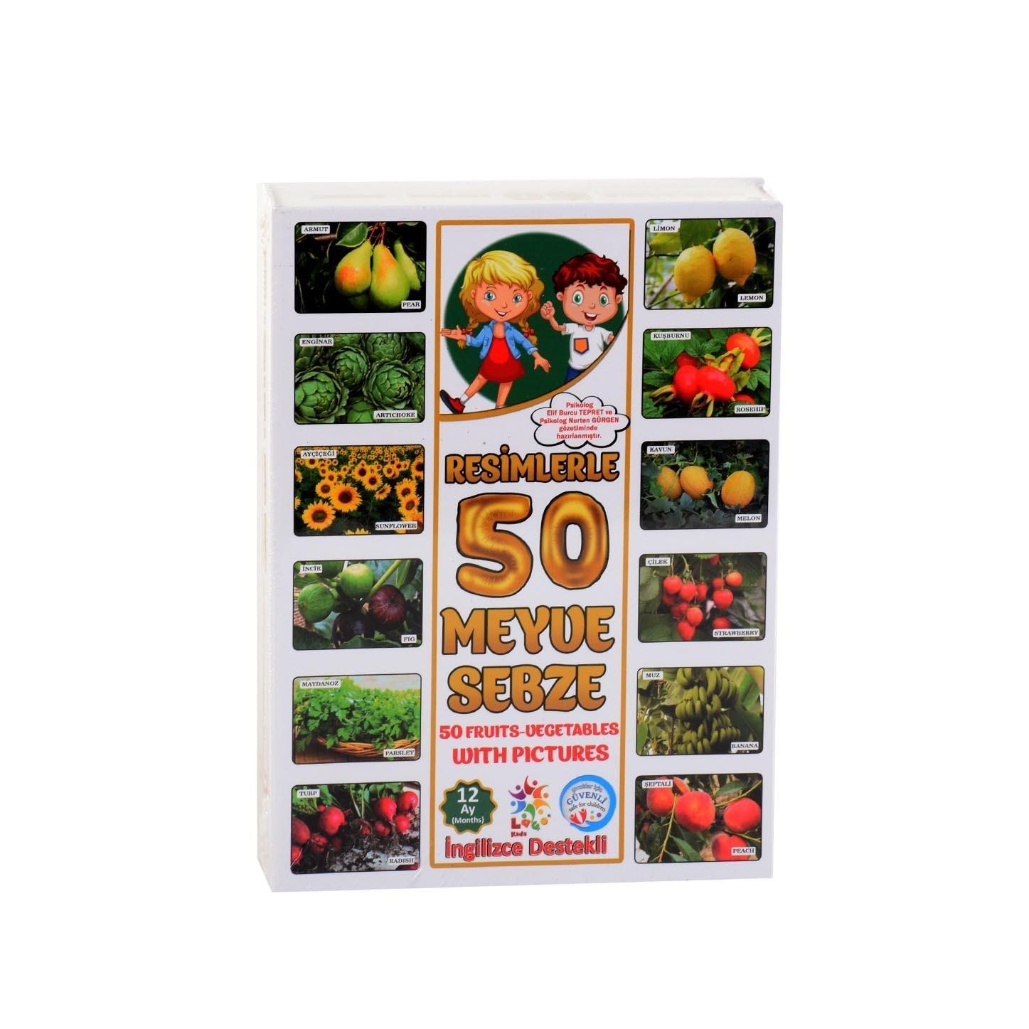Loco Orijinal Lisansli Ilk 50 Meyve Sebze Turkce Ingilizce Ogren