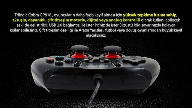 Trilogic Cobra Gp818 turbo usb Gamepad Pc Oyun Kolu Joystick Fiyatları ve  Özellikleri