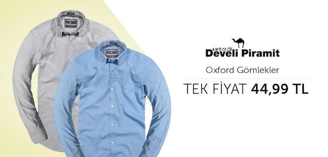 Develi Piramit Oxford Gömlekler Tek Fiyat 44,99 TL