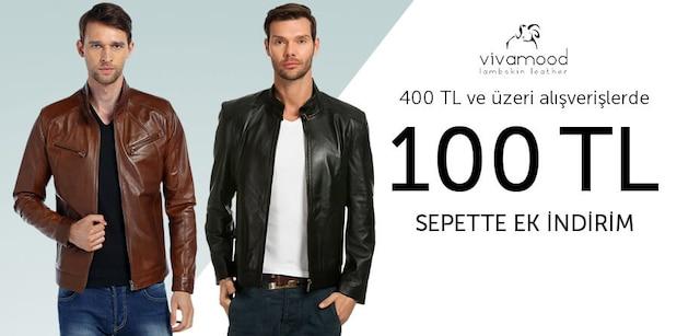 Vivamood Deri Ceketler - 400 TL ve Üzeri Alışverişlerde 100 TL İndirim