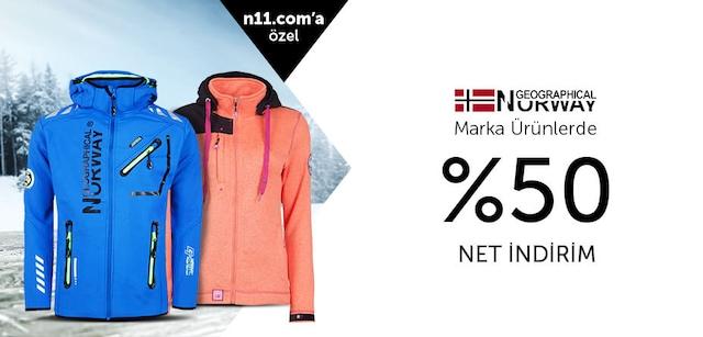 Norway Geographical Marka Ürünlerde %50 Net İndirim