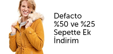 Defacto Seçili Ürünlerde Sepette %50 %25 Ek İndirim - n11.com