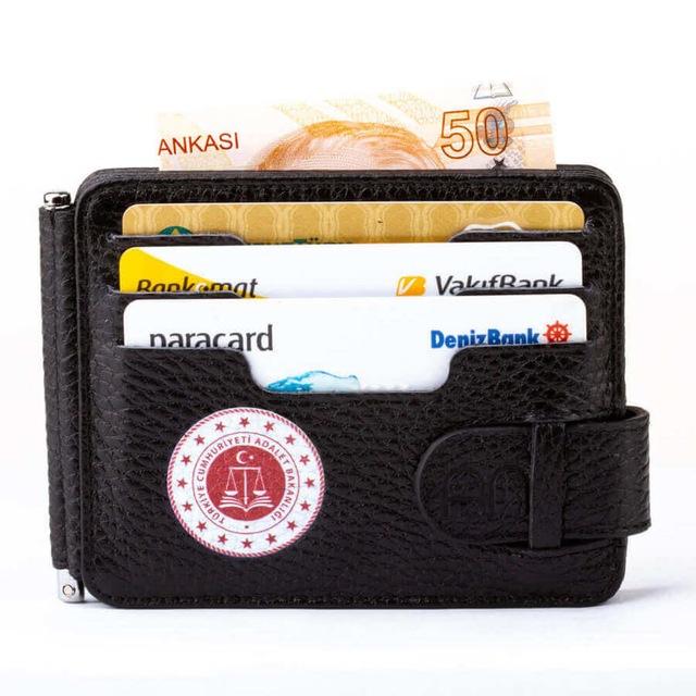 adalet bakanligi baskili para tokali cift tarafli deri erkek kart