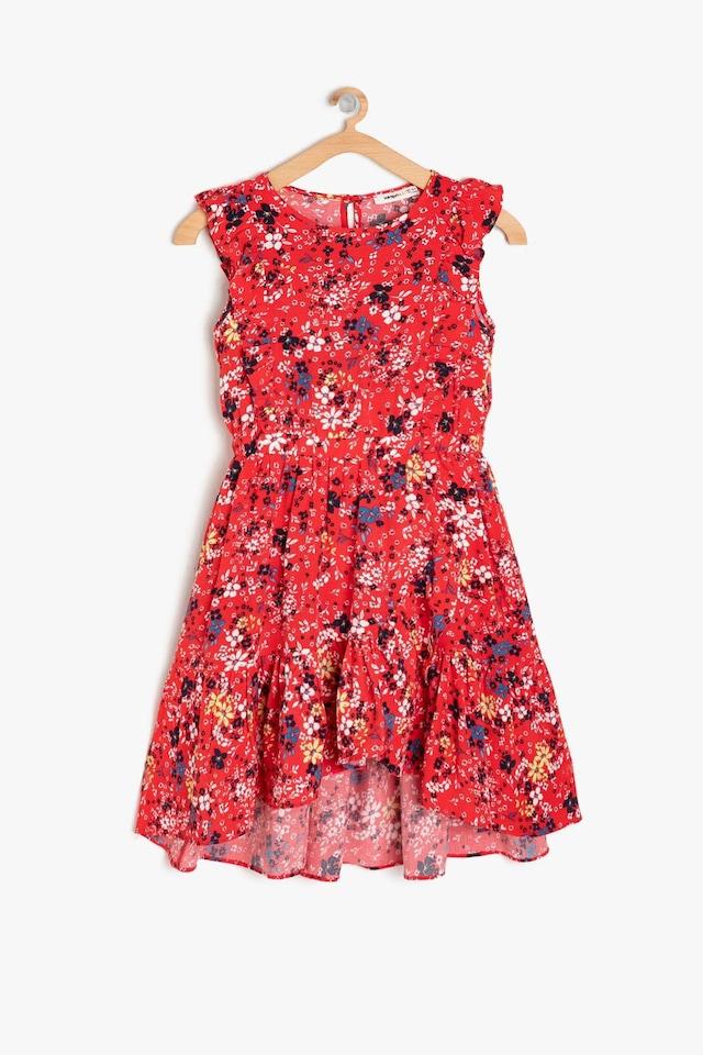 424bcecf59454 Koton Kız Çocuk 9ykg87717aw Elbise Kırmızı 11-12 Yaş - n11.com