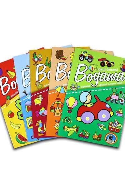 Okul öncesi Dev Boyama 5 Kitap N11com