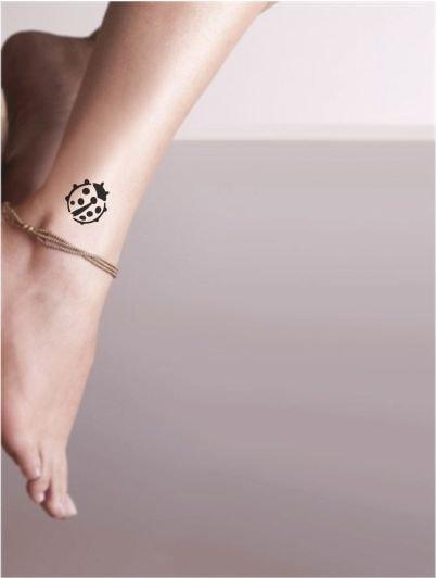 Uğur Böceği Orjinal Tattoo Dövme şablonu N11com