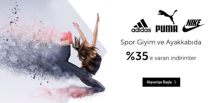 Nike, Puma, Adidas