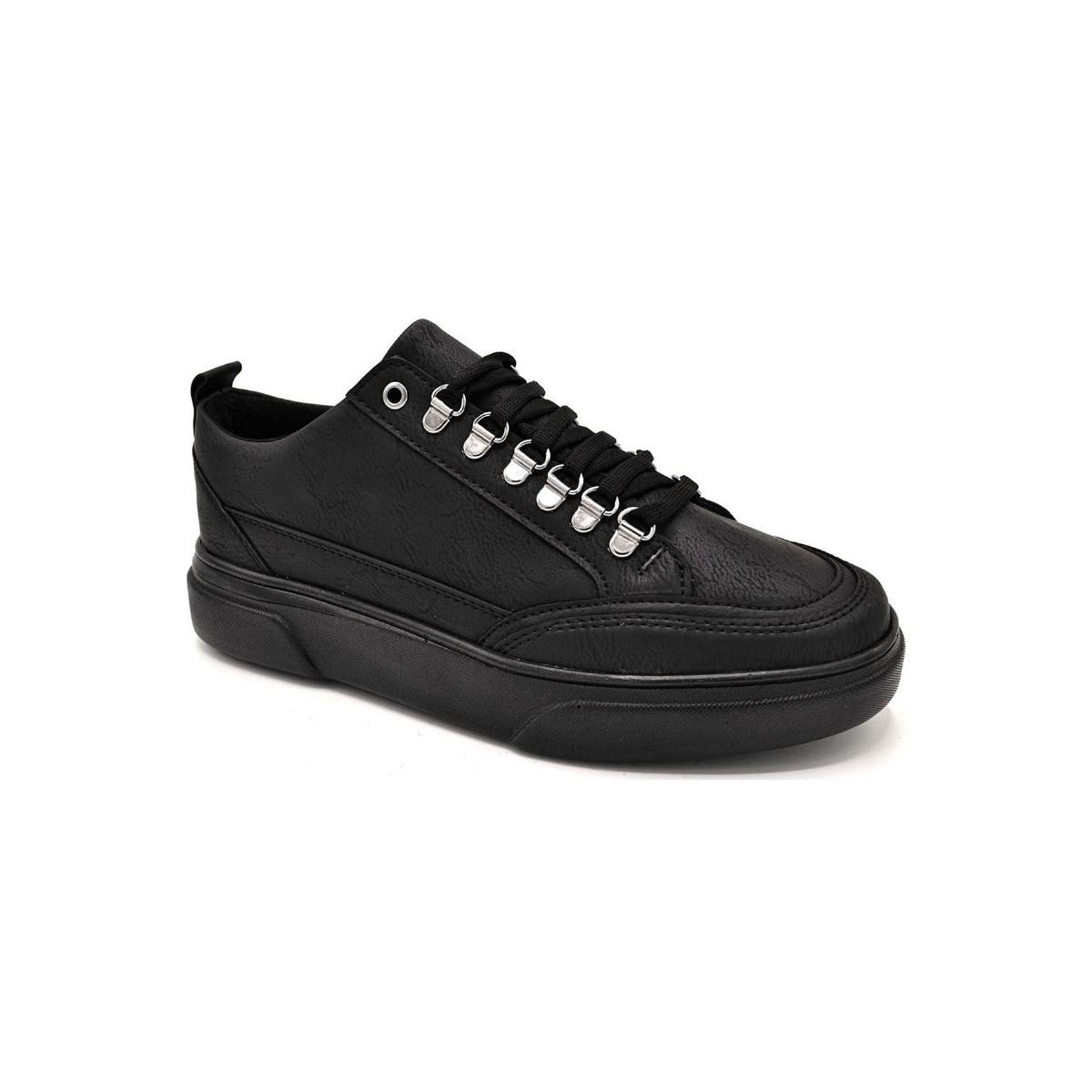 L.A. Polo 104 Siyah Renk Siyah Taban Erkek Spor Ayakkabı