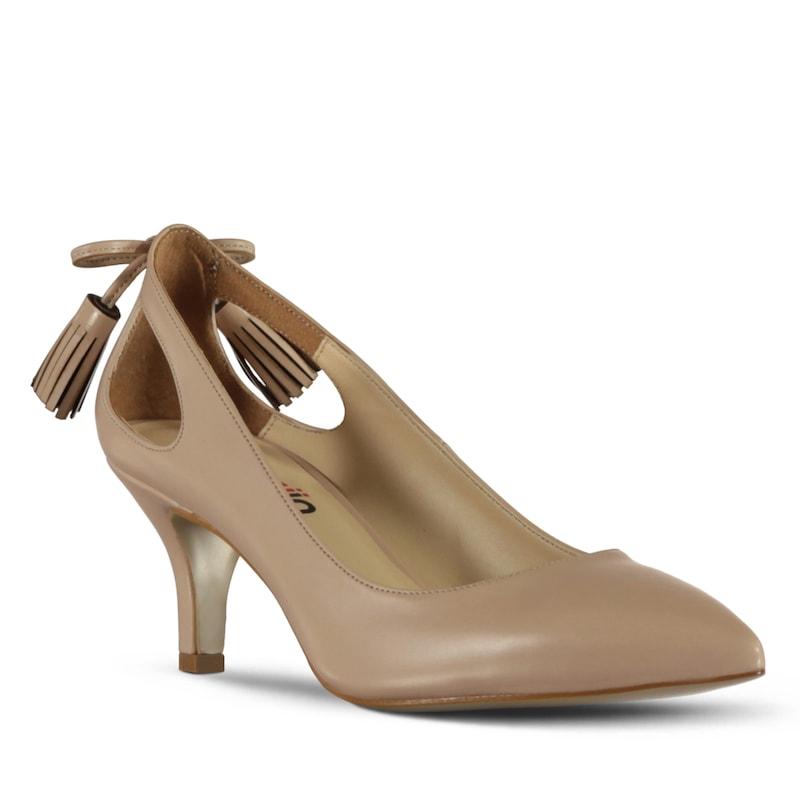 marjin zetin topuklu ayakkabı bej